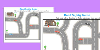 Road Safety Game - road safety, game, activity, road, safety, cross, crossing