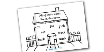 Word Family House - word family, house, similar words, family, DfES Letters and Sounds, Letters and sounds
