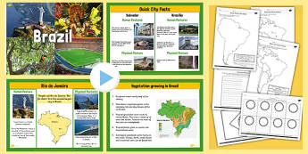 KS2 Brazil Lesson Teaching Pack - geography, brazil, countries