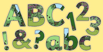 Garden-Themed Display Lettering - garden, display lettering, display, lettering, letter