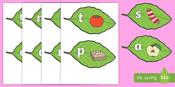 Phase 2 Sounds on Leaves Display Cut-Outs - phonics, reading, language, letters, phoneme, sound, letter, spell, read, letters and sounds, initia