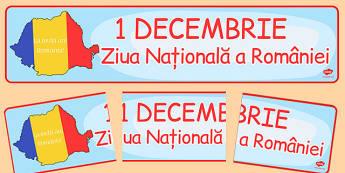 Ziua Nationala a Romaniei, Banner 1 Decembrie - la multi ani