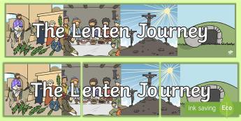 The Lenten Journey Display Banner - Lent, Easter, Religion, Lenten Journey,Irish