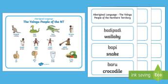 Yolngu Aboriginal Language Word Mat and Word Card Resource Pack - Australian Curriculum, Aboriginal and Torres Strait Islander Peoples, justice, marriage, birth, resi