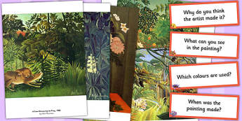 Henri Rousseau Photopack and Prompt Questions - henri, rousseau