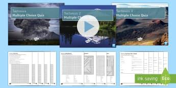 Tectonics Edexcel GCSE Glossary Activities Activity Pack - Secondary - Geography - Tectonics Edexcel GCSE