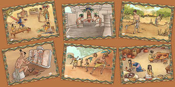 Mayan Civilisation Illustration Pack - maya, pack, civilisation