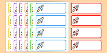 Editable Drawer - Peg - Name Labels (Rockets) - Rocket Label Templates, rockets, Resource Labels, Name Labels, Editable Labels, Drawer Labels, Coat Peg Labels, Peg Label, KS1 Labels, Foundation Labels, Foundation Stage Labels, Teaching Labels