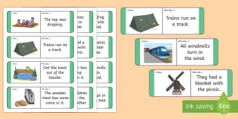 Phase 4 Sentence Loop Cards - Year1, Year 2, Reception, Key Stage One, Key Stage 1, KS1, Letters and Sounds, Phonics, Sentences, D