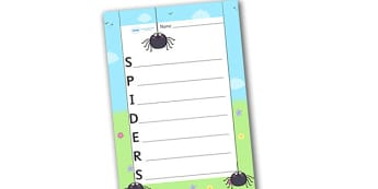 Spiders Acrostic Poem - acrostic poems, acrostic poem, acrostic, spiders acrostic poem template, spiders acrostic poem writing frame, spider, spiders, minibeasts, minibeast acrositc poem, poem, poetry, literacy, writing activity, activity
