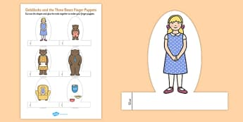 Goldilocks and the Three Bears Finger Puppets - finger, puppets
