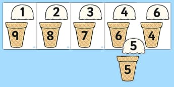 Ice Cream Number Bonds to Ten - 0-10, bonds to ten, number bonds, number activities, number games, addition, numeracy, number bonds to 10, bonds to ten