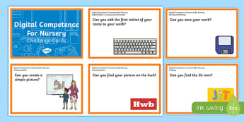 Digital Competence for Nursery Challenge Cards