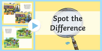 Spot the Difference PowerPoint - spot the difference, powerpoint, spot, difference, activity