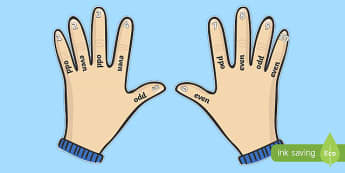 Odd and Even Hand Visual Aid - odd, even, odd and even, odd and even hand, visual aid, counting, numbers, numeracy, counting on fingers, maths visual aids