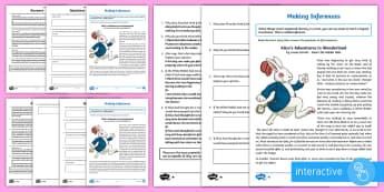 Alice's Adventures in Wonderland Inference Go Respond Activity Sheet - KS2, Alice's Adventures in Wonderland, classic, story, inference, feelings, thoughts, motives, acti