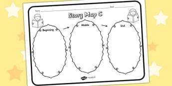 Story Map C Worksheet - story map C, story, stories, story map, story map worksheet, map stories, story worksheets, worksheets, literacy, english, reading