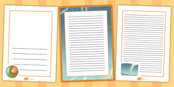 Extreme Earth Page Borders - frames, pages, writing, write