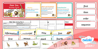 Y1 Dear Zoo: Activity Plan 3 PlanIt Guided Reading Pack - Dear Zoo, animals, fiction, carousel, year 1, comprehension, prediction, reading skills, reading que