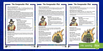 KS1 The Gunpowder Plot Differentiated Fact File