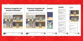 Povestea Crăciunului Activitate de ordonare - craciun, istoria craciunului, poveste, povești, comunicare, română, materiale, fișe, sirul logic