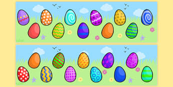 Editable Easter Egg Strips 0-40 - strips, editable strips, editable easter banner, editable easter eggs, editable easter egg banner, eggs banner, easter banner, display banner