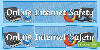 Online Internet Safety Display Banner - esafety, e-safety, display banner, display, banner, display banner, display header, themed banner, header, banner for display