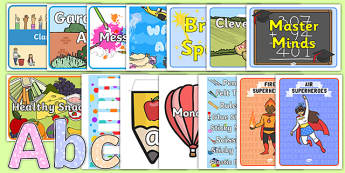 Top 10 Early Years Classroom Set Up Resource Pack
