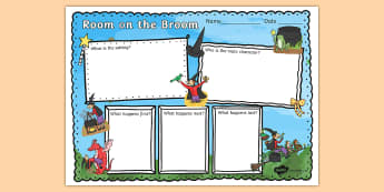 Book Review Writing Frame to Support Teaching on Room on the Broom - room on the broom, book review, writing frame, book review writing frame, writing aid, writing template