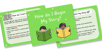 Story Starters PowerPoint Task Setter - how to write a story powerpoint, story writing task setter, story writing powerpoint, story starter powerpoint, ks2