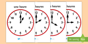 Posters d'affichage : Horloges analogues - L'heure - horloges analogues, l'heure, horloge, vocabulaire, Analogue Clocks - Hourly O' Clock - Time resour