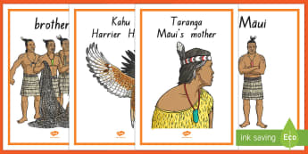 Māui Myth Display Posters - Maui Myths Maori legends