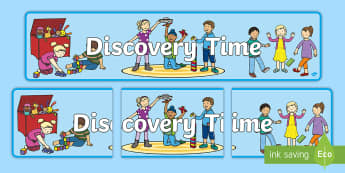Junior Discovery TIme Display Banner - nz, new zealand, early years, sign, heading, header, banner, time