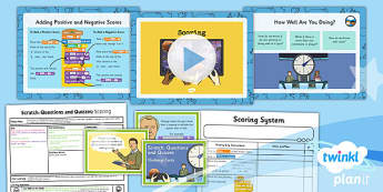 PlanIt Computing Y4 Scratch Questions Quizzes Lesson 5 Scoring Pack