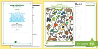 Jungle and Rainforest Quiet Time Box - Jungle, Rainforest, forest, tropical, amazon, childminders, child minder