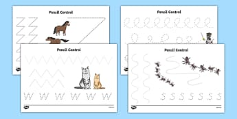 Bandit Rat Themed Pencil Control Activity Sheet Pack - highway rat, bandit rat, julia donaldson, pencil control, worksheet