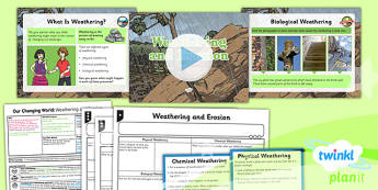 PlanIt - Geography Year 6 - Our Changing World Lesson 1: Weathering and Erosion Lesson Pack - geography, coast, physical, changes, erosion, weathering