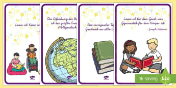 Lesen ist... Poster DIN A4 - Bücher, Lesen, Welttag des Buches, Zitate, books, World book day, reading, quotes,German