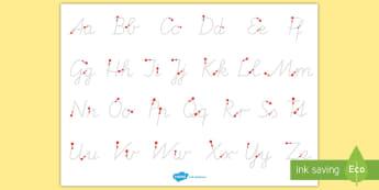 Groß  und Kleinbuchstaben schreiben Arbeitsblatt Erstes Schreiben: Buchstaben nachspuren - Schreiben, erstes Schreiben, schreiben lernen, Großbuchstaben, Kleinbuchstaben, Schreibschrift, Gru