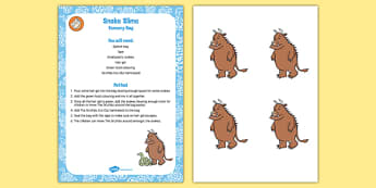 Snake Slime Sensory Bag to Support Teaching on The Gruffalo - the gruffalo, eyfs