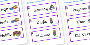 Florence Nightingale Themed Editable Construction Area Resource Labels ...