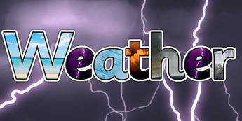Weather Photo Display Lettering - weather, weather display