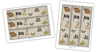 Pirates Display Borders - Pirates, Display border, classroom border, border, Pirate, Topic, cutting, fine motor skills, activity,  pirate, pirates, treasure, ship, jolly roger, ship, island, ocean