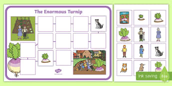 The Enormous Turnip Story Map Sheets