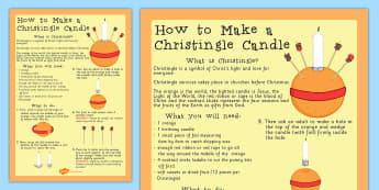 KS1 Christianity How to Make a Christingle Candle Craft Activity