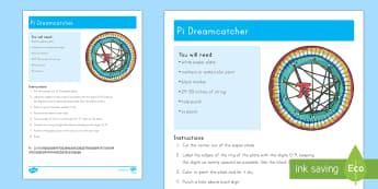 Pi Day Dreamcatcher Craft - Pi, circles, circumference,