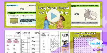 Y3 Term 1A Week 2: Long /a/ Spelt as ey Spelling Pack