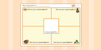 My Vegetable Description Worksheet - description, worksheet