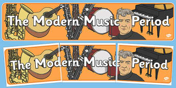 Modern Period Music Display Banner - modern, music, display