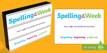 LKS2 Spelling Rules Light Box Inserts - spellings, spell, rules, patterns, sequence, examples, Year 3, Year 4, spelling of the week, spellin